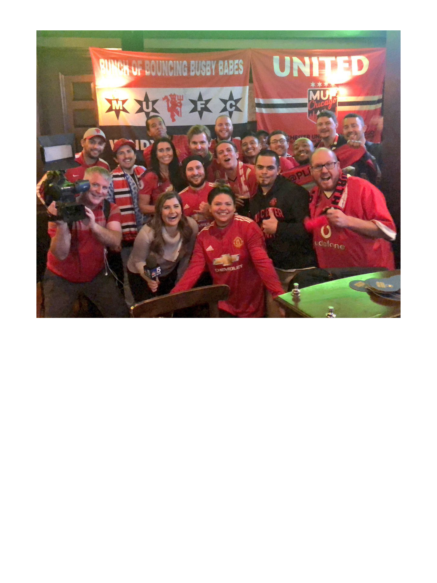 Watch all Manchester United matches with us at Fado Irish Pub in Chicago!